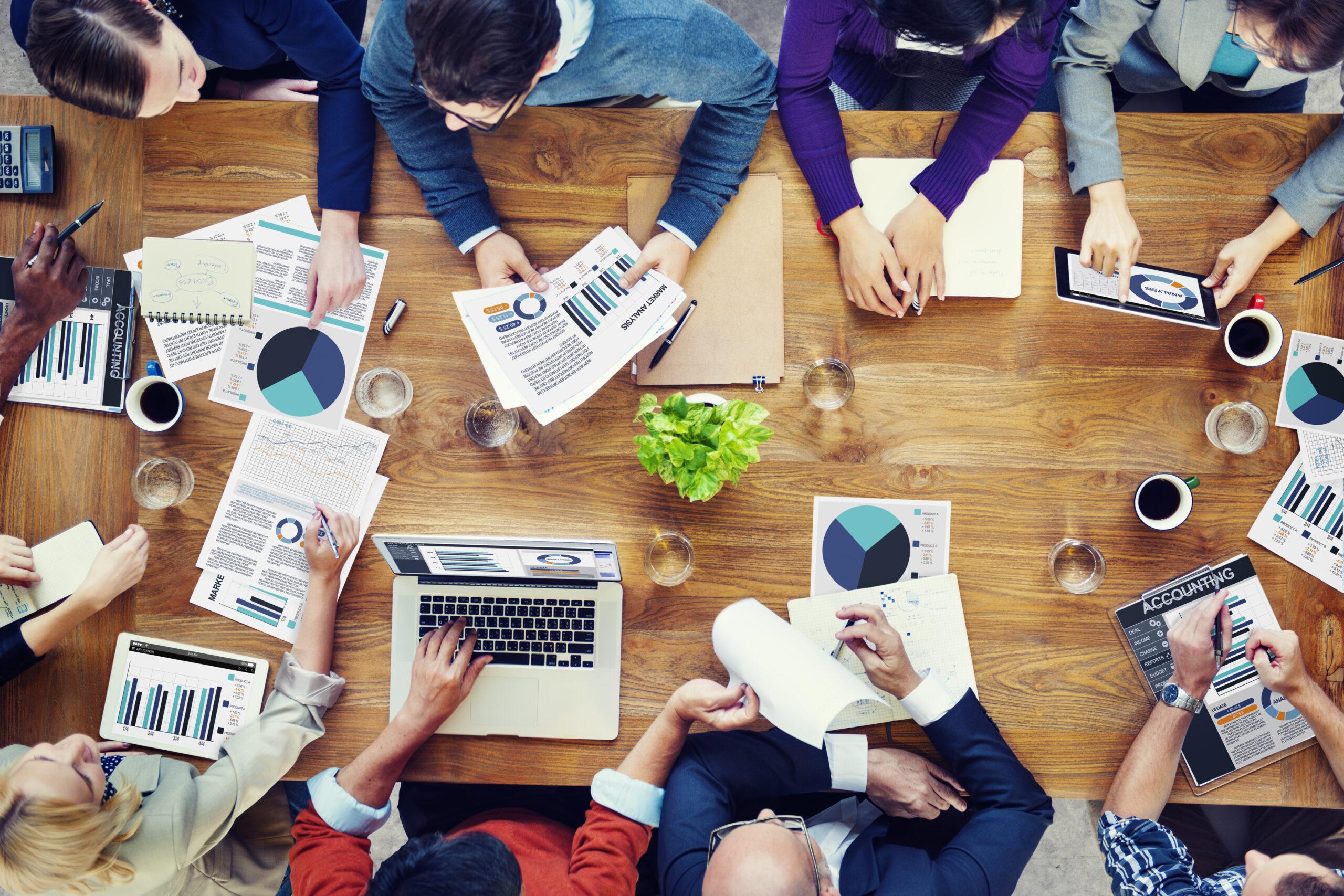 Marketing Analysis Accounting Team Teamwork Business Meeting Con